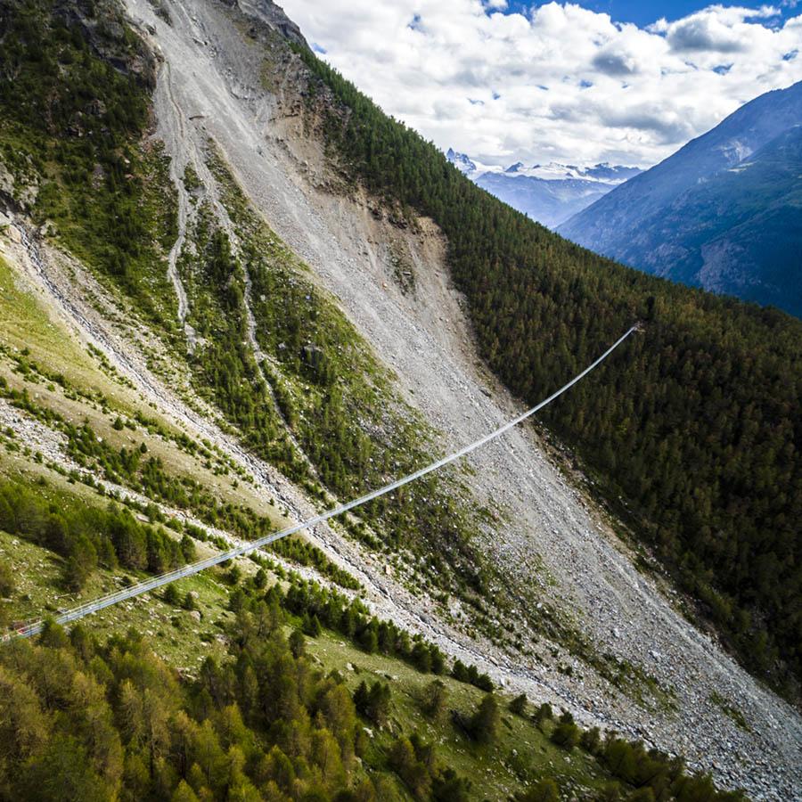 Charles Kuonen Suspension Bridge in Switzerland
