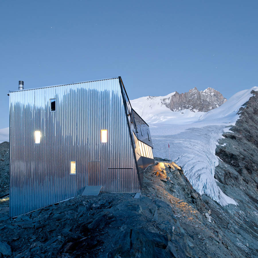 New Mountain Hut At Tracuit by Savioz Fabrizzi Architectes