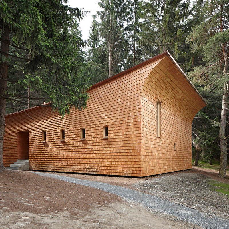 Tegia da vaut forest hut by Gion A. Caminada