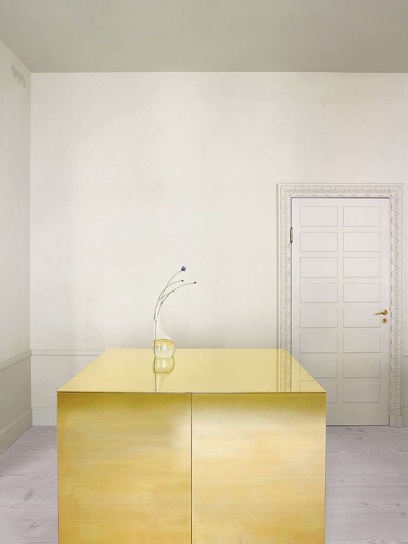 Apartment with Brass Cube by Claesson Koivisto Rune