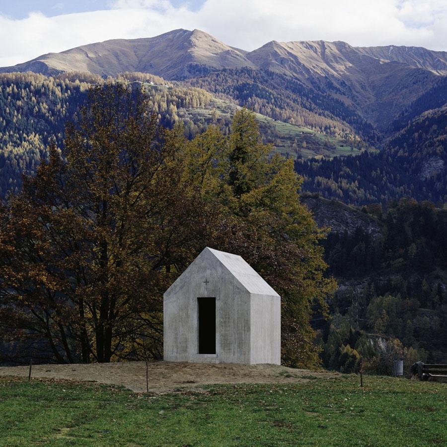 Oberrealta Chapel by Christian Kerez