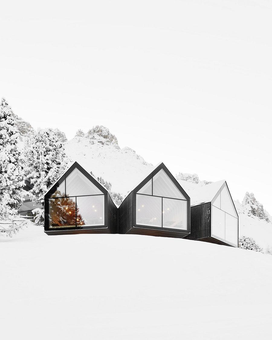 Oberholz Mountain Hut by Peter Pichler & Pavol Mikolajcak