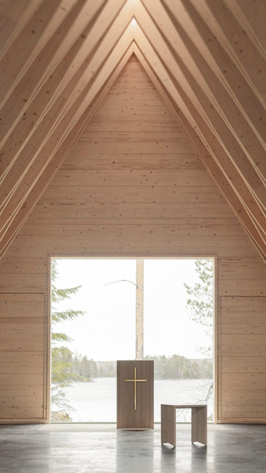 Tervajärvi Forest Chapel by NOAN