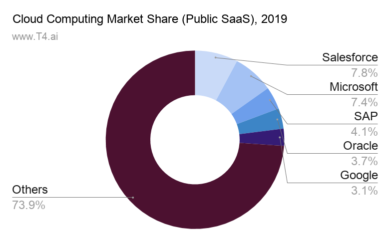 Cloud Computing Market Share Public SaaS