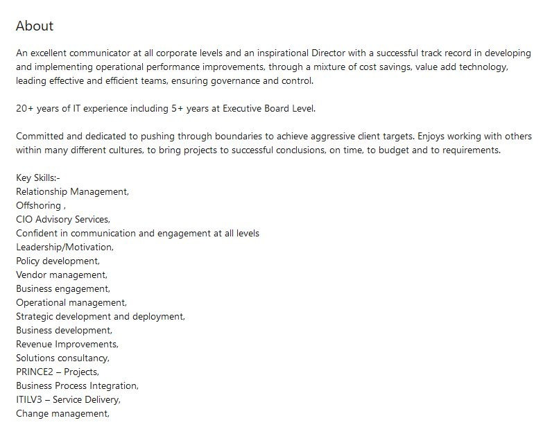 Ian Shearer Linkedin summary