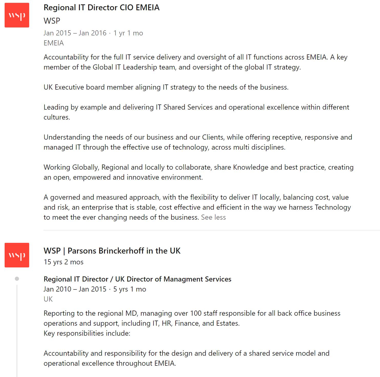 Ian Shearer Linkedin career history