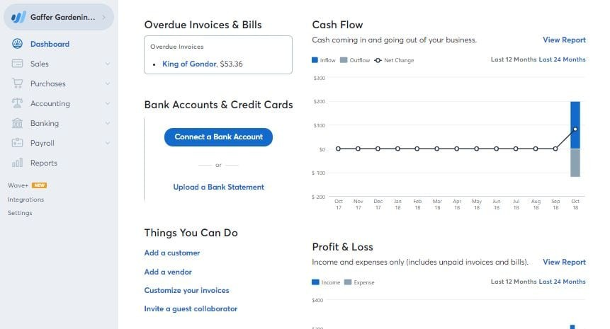 wave invoicing tool