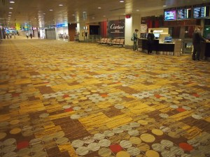 Singapore airport carpet