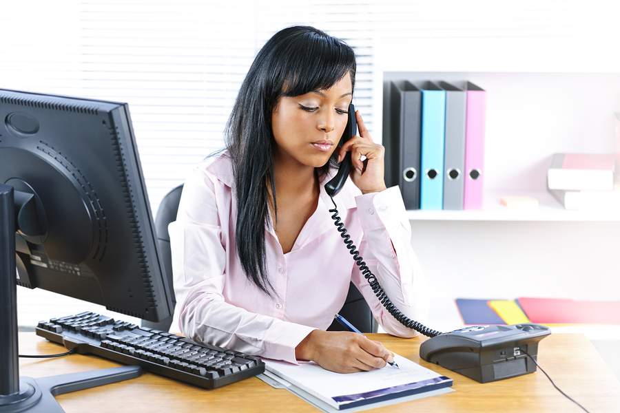 woman makeing sales calls