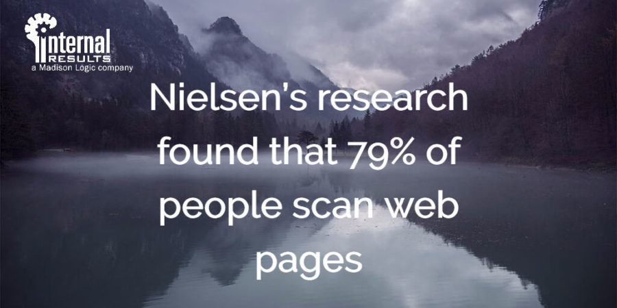 nielsen scannable content quote