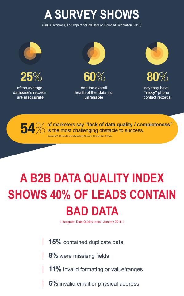 Infographic Data Survey bad data sales database