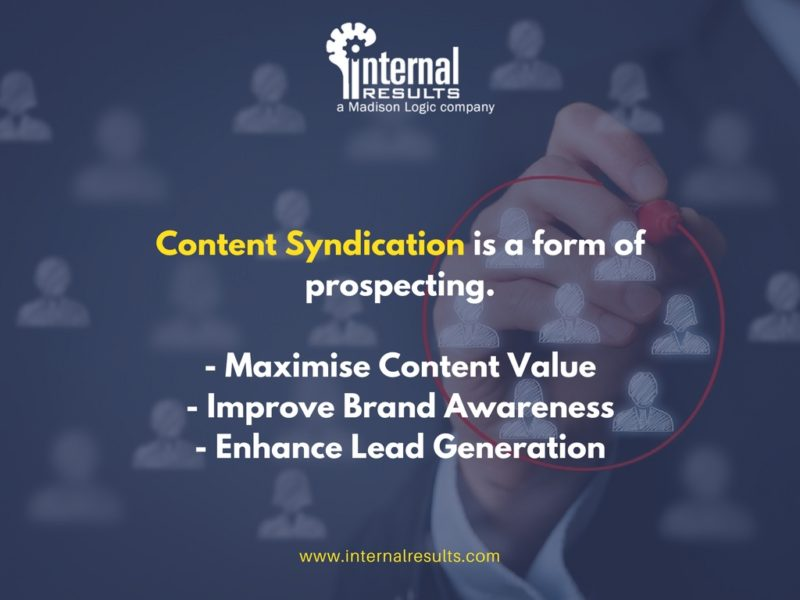 Targeted Content Syndication is a form of prospecting