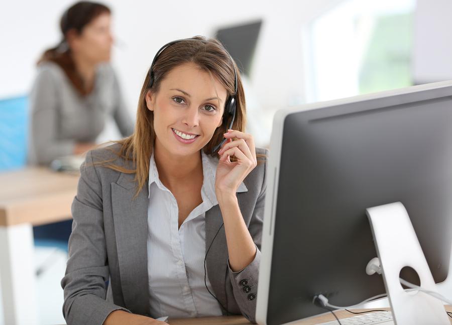 Smiling-customer-service-representative