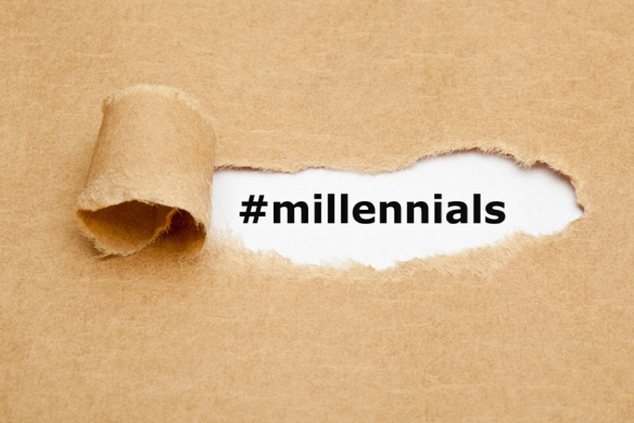 hashtags Millennials text