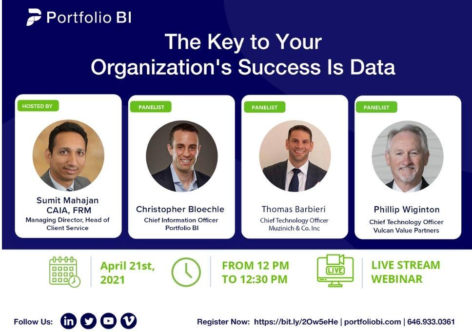 The Key To Your Organization's Success Is Data Portfolio BI Webinar