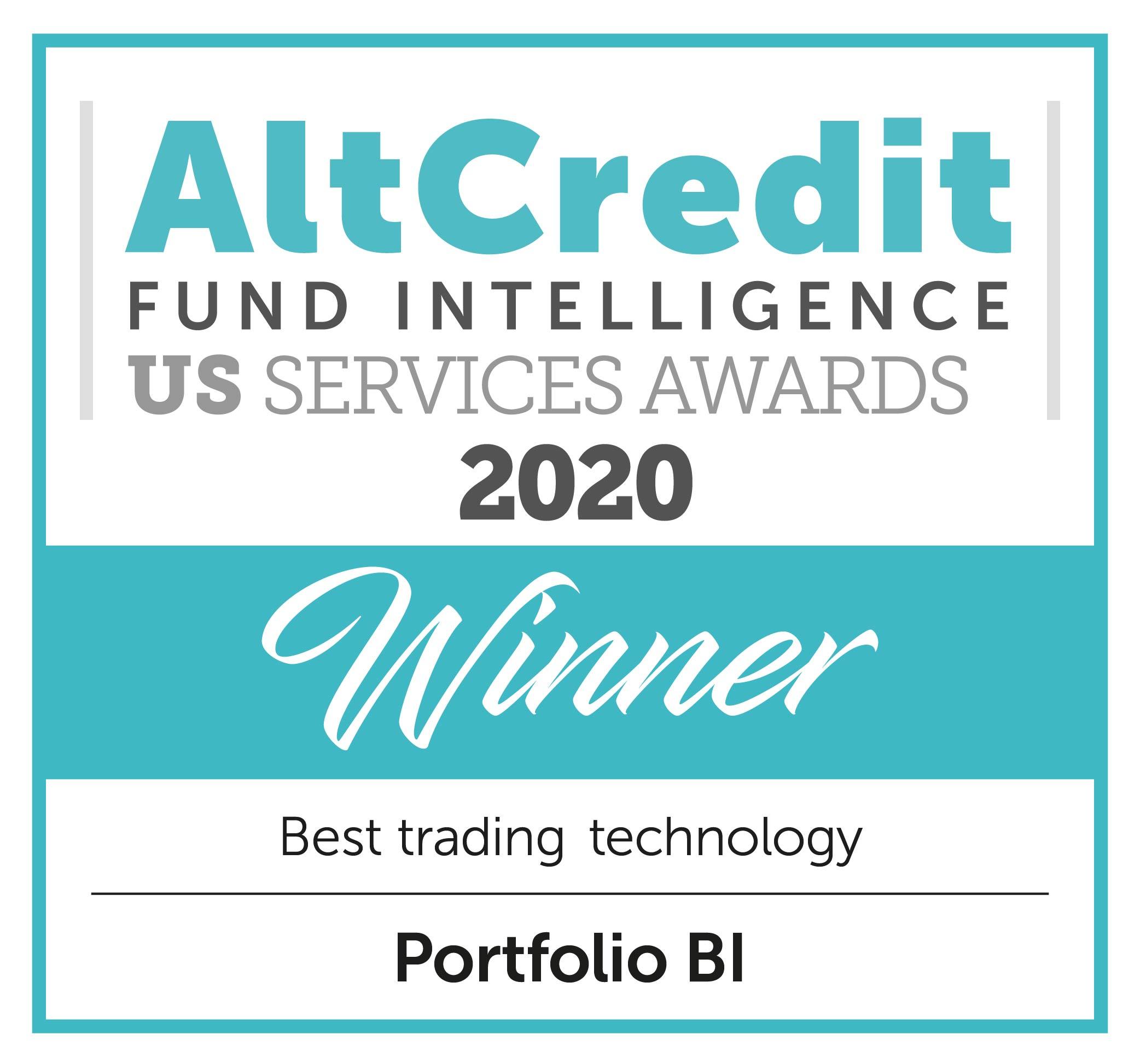 AltCredit Fund Intelligence US Services Awards 2021 Winner Badge