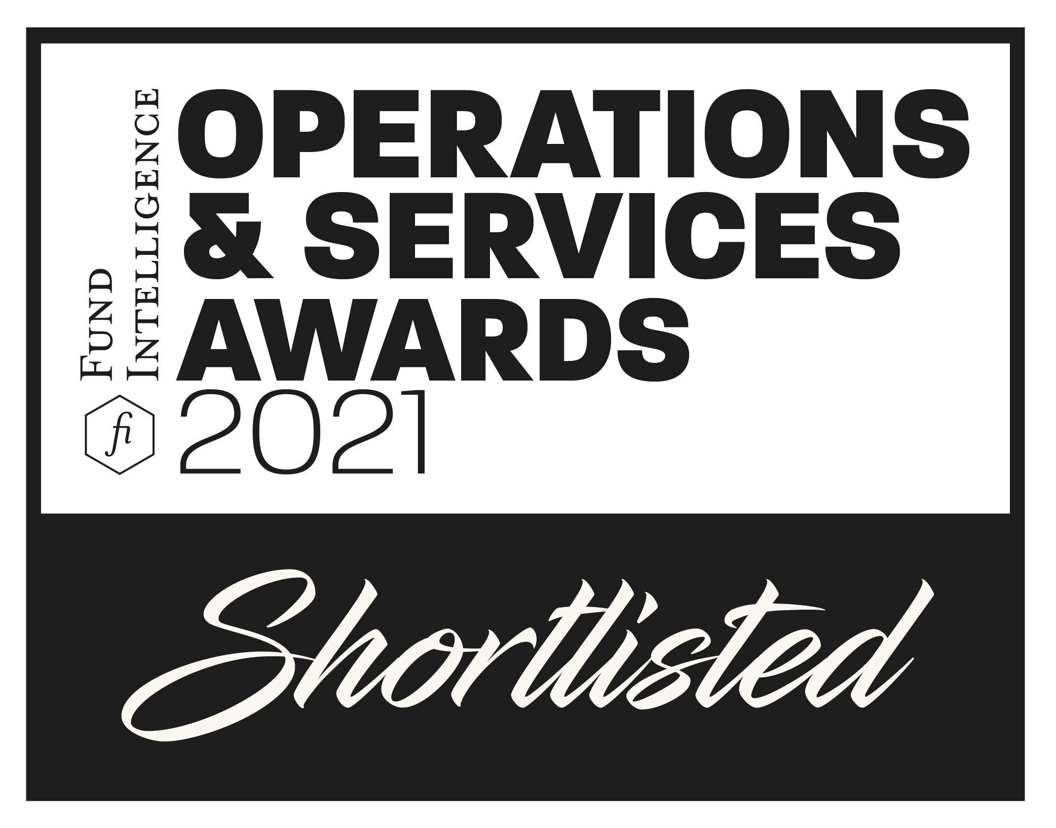 Fund Intelligence Operations & Services Awards 2021 Shortlist Badge