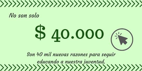 Donacion 40 mil pesos