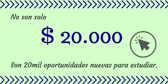 donacion de 20 mil pesos