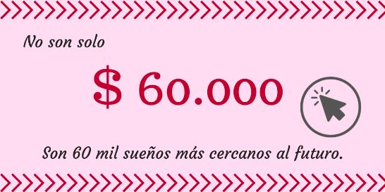 Donacion 60 mil pesos