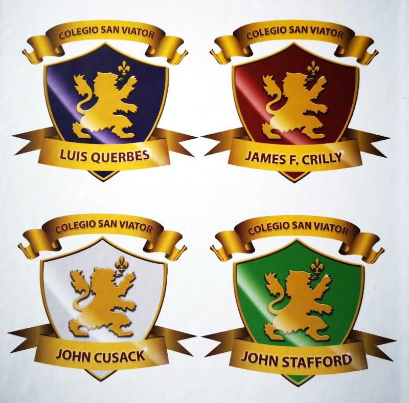 logos de houses del colegio san viator