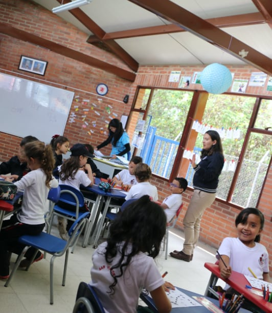Niños de preescolar en clase