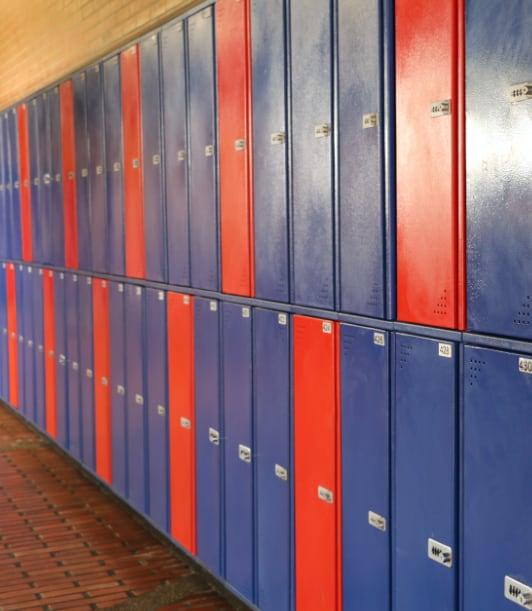 Lockers del colegio