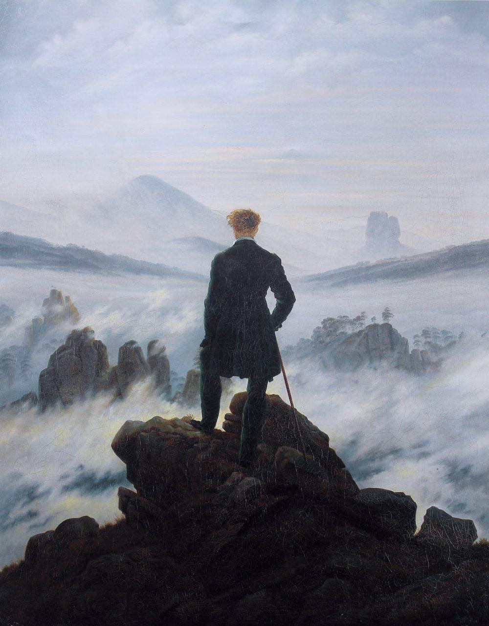 Caspar David Friedrich, Wanderer above the Sea of Fog (1818)