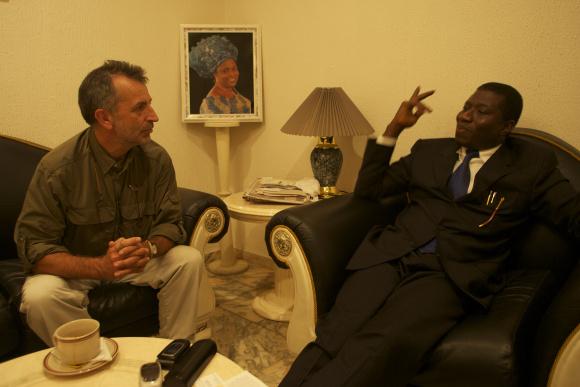 Interviewing (now President) Goodluck Jonathan