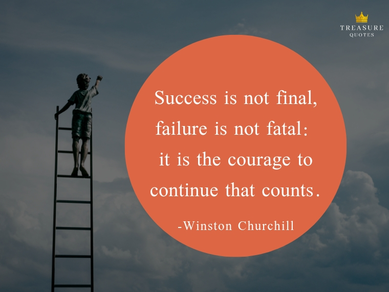Success is not final, failure is not fatal: it