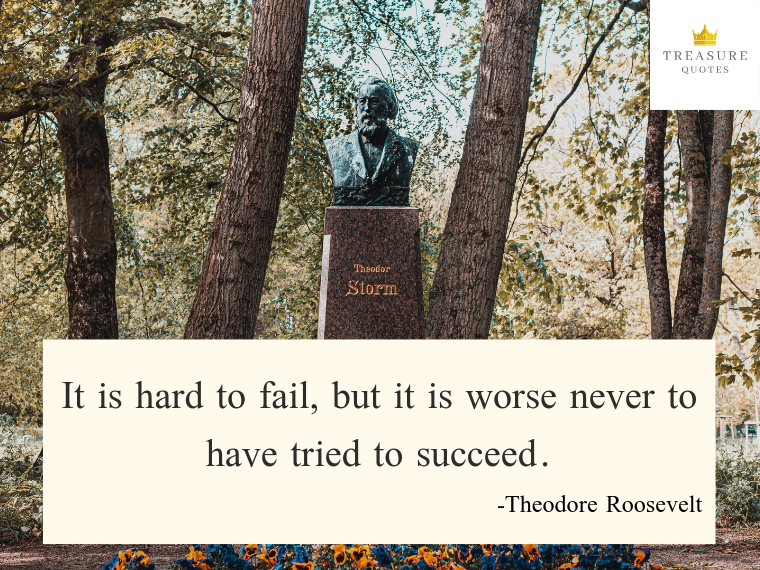 It is hard to fail, but it is worse never to h