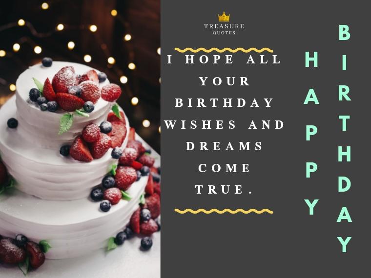 Happy birthday! I hope all your birthday wishe