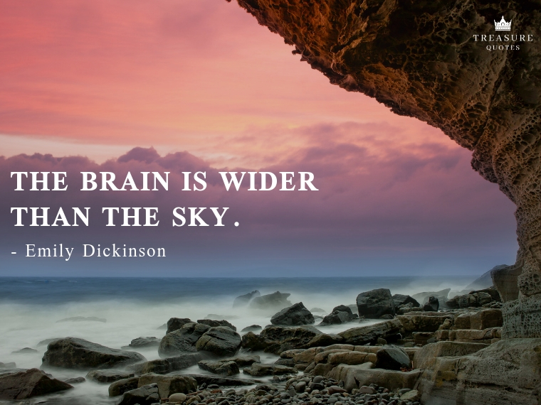 """The brain is wider than the sky."""