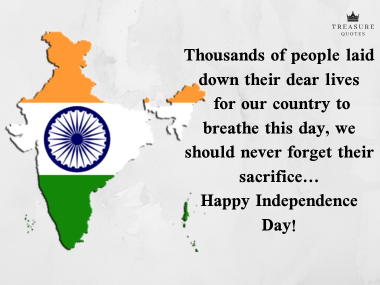 """""""Thousands of people laid down their dear lives for our country to breathe this day, we should never forget their sacrifice...happy Independence Day!"""""""