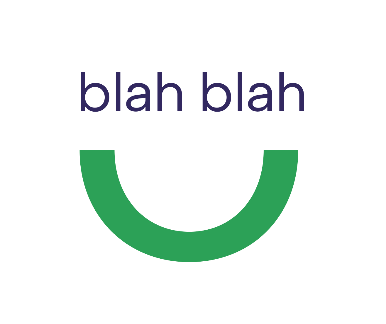 Blah blah with the Heyday logo