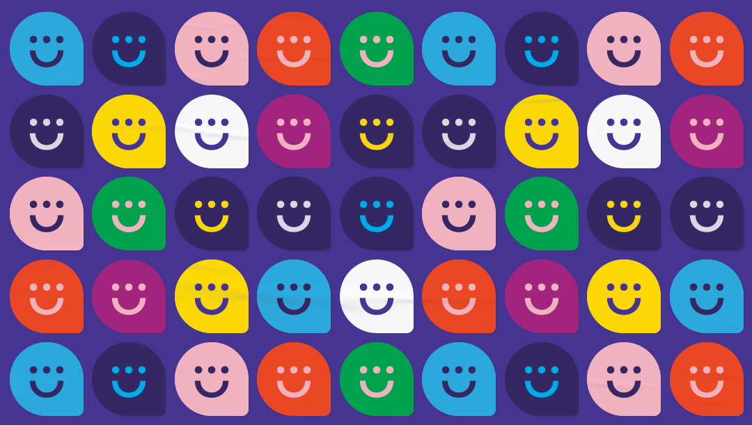 Colourful Heyday stickers in a sheet