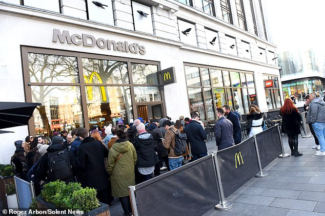 Fans queue outside McDonalds in February to buy limited edition bottle_Heyday
