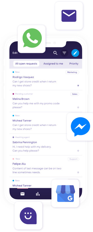Multi-channel messaging chatbot AI