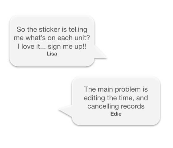 screenshot of conversations