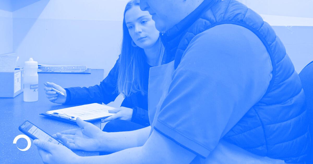 Team member conducting research