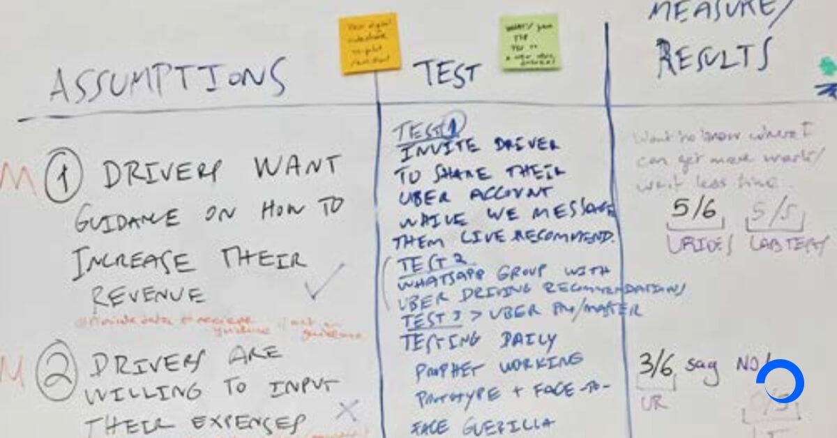 Assumptions matrix example