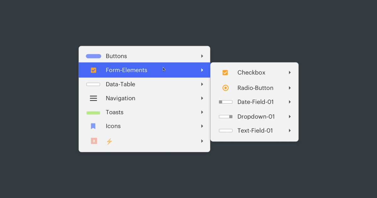 Our symbols guidelines in Sketch