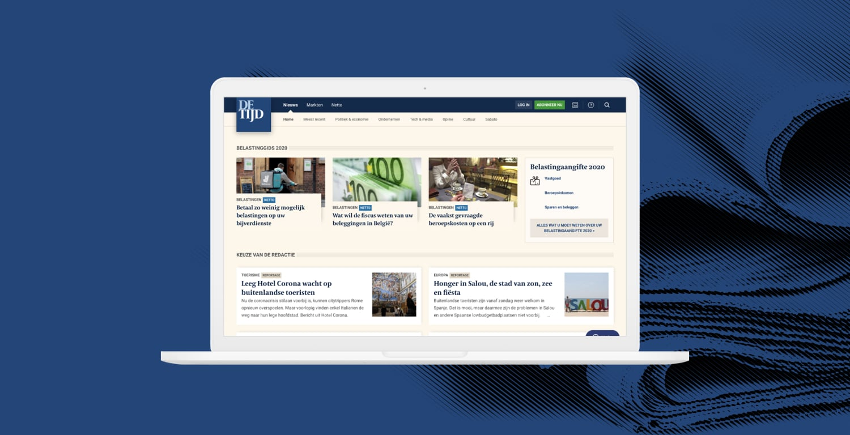 Transforming De Tijd's digital news ecosystem to grow their market share