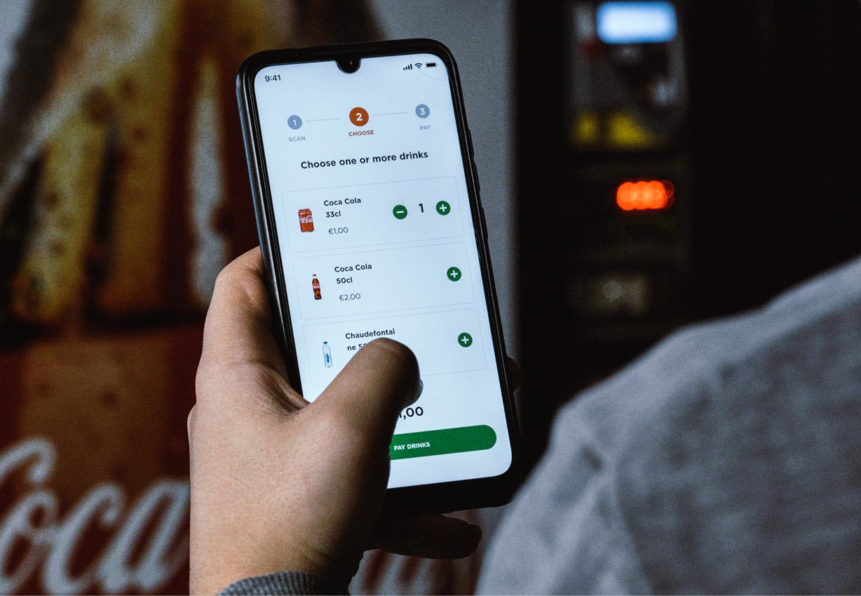mobile payment solution for vending machines