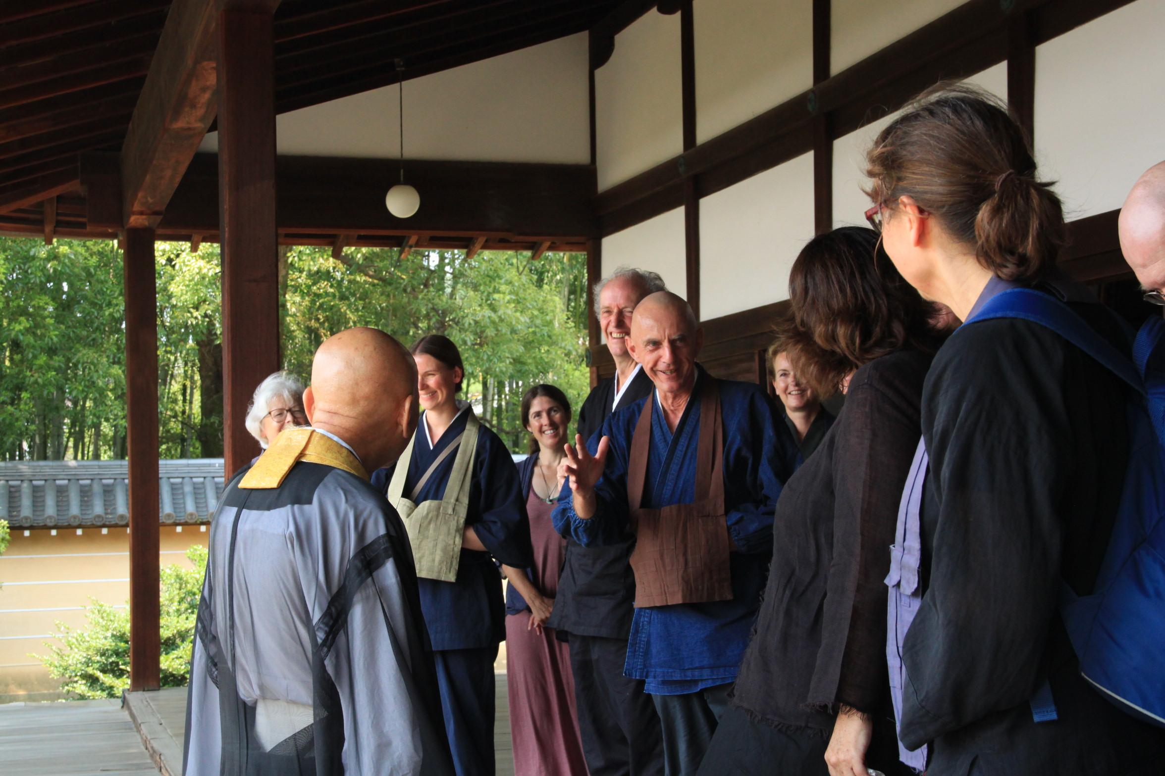 Japan Zen Reise, Noritake Roshi, Yamada Mumon Roshi Myoshinji Tempel
