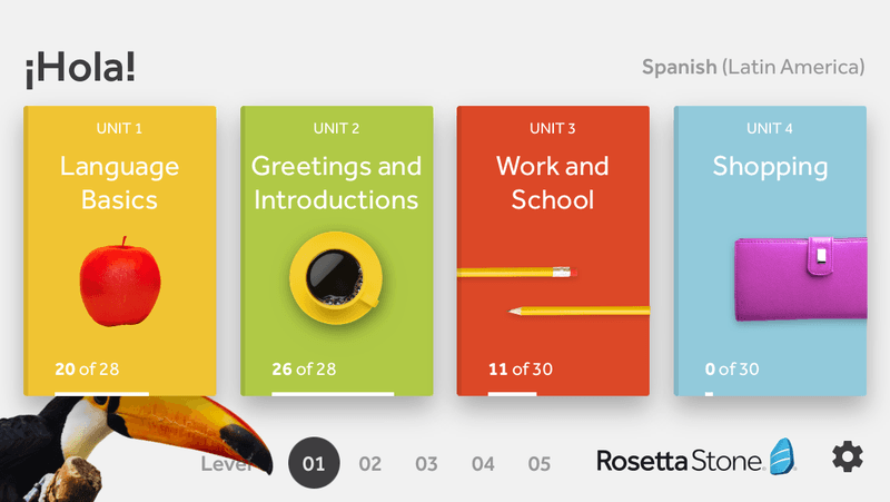 Learn a new language with Rosetta Stone