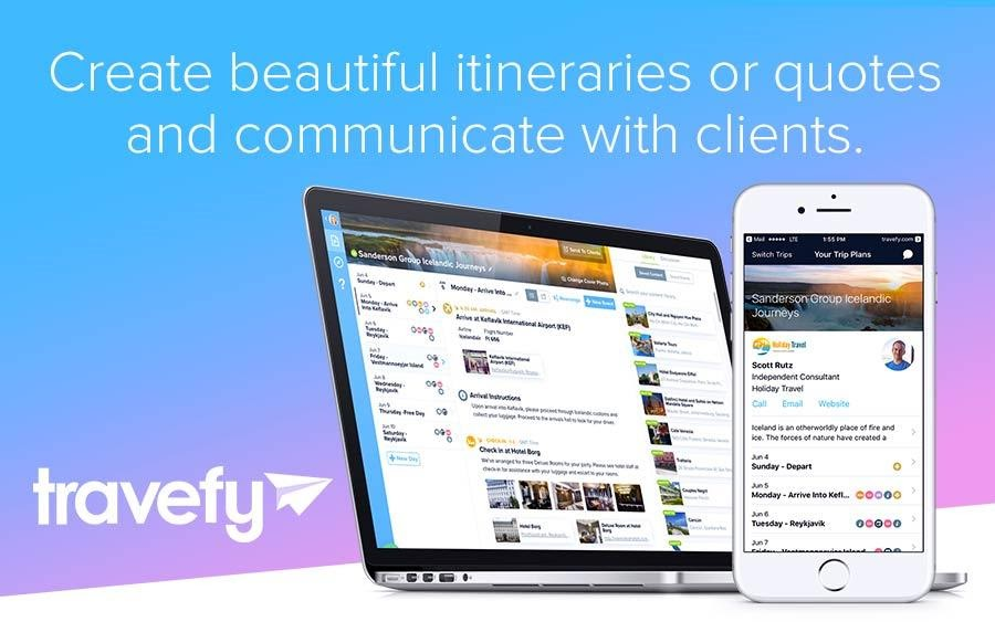 Travefy trip planner for travel agents