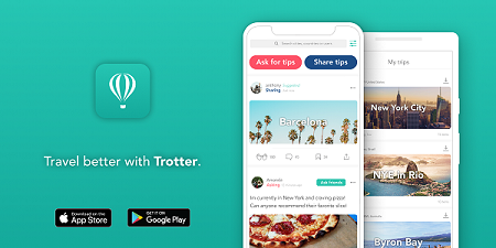 Trotter Travel plan recommendations app