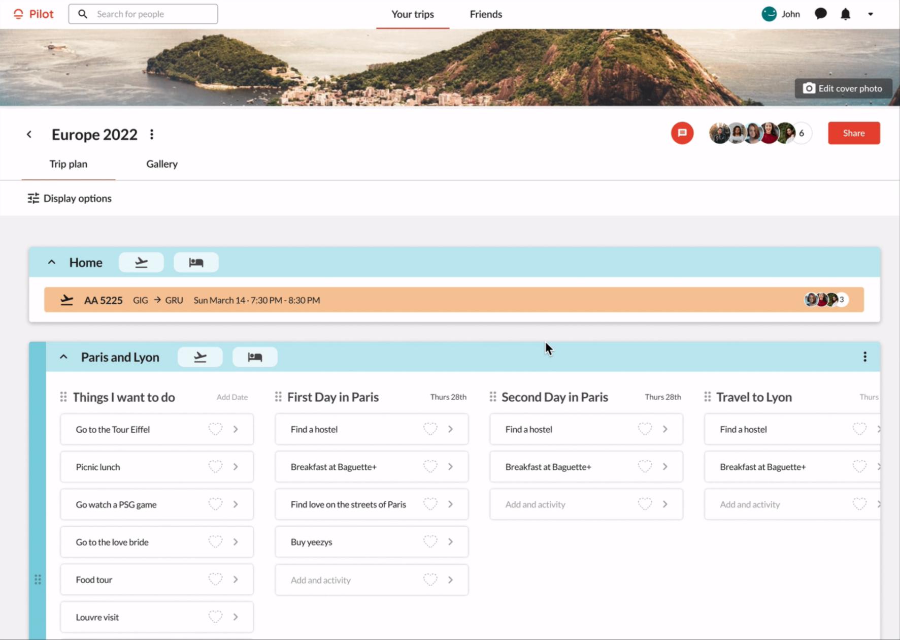 Pilot Travel Planning App
