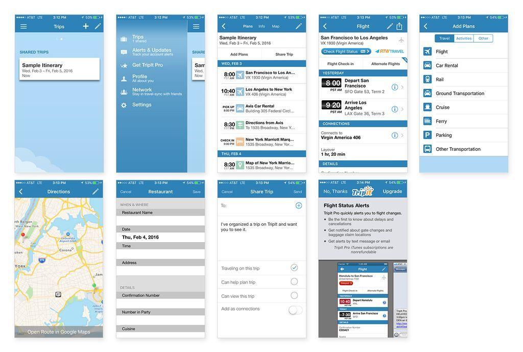 TripIt Trip Planner App